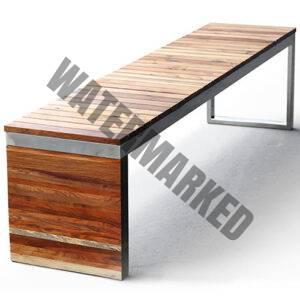 Flat Timber Bench B006