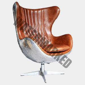 Banshee Egg Chair with Aluminium