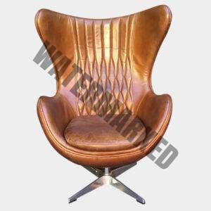Banshee Egg Chair In Leather