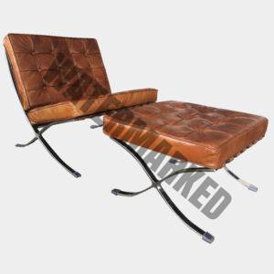 Barcelona 1 Seater Lounger and Foot Stool