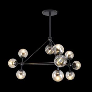 Art Decor Glass Ball Pendant, 10 Light