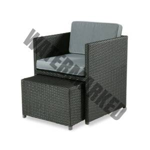 Cubic Armchair with Ottoman