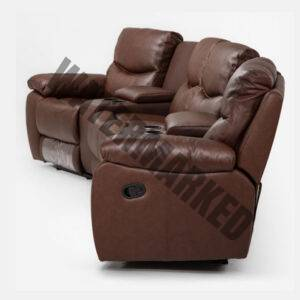 Christopher 4-Seater Cinema Recliner – Cinnamon