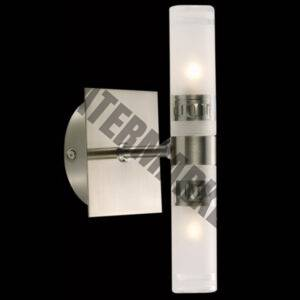 Double Vertical Mirror Glass Wall Light