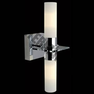 Double Vertical Opal Glass Wall Light