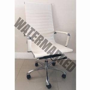 Executive Chair Ribs White