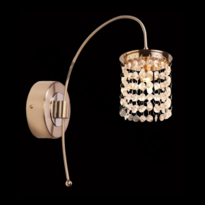 Single Wall Light with Asfour Crystal Strips