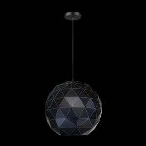 Large Laser Cut Metal Ball Pendant, Matt Black
