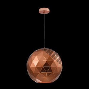 Large Laser Cut Metal Ball Pendant, Copper