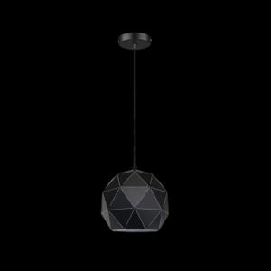 Small Laser Cut Metal Ball Pendant, Matt Black