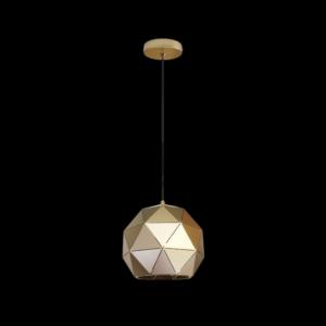 Small Laser Cut Metal Ball Pendant, Satin Gold