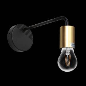 Constalation Wall Light, Black and Satin Gold
