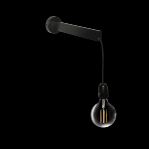 Mobile Single Wall Light, Black