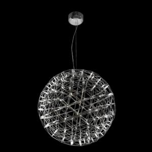 LED Deathstar Stainless Steel Pendant, Medium