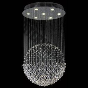 K9 Crystal Ball Chandelier