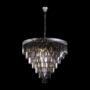 Crystal 7 Tier Chandelier Charcoal
