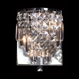 V-Shaped Crystal Wall Light
