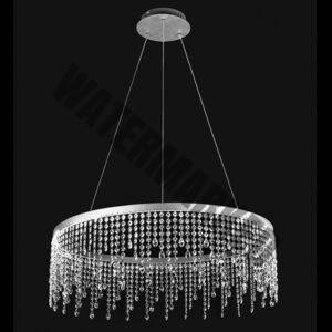 LED Large Ring Crystal Drop Pendant