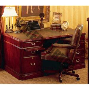 Lexington Executive Desk with Leather Inlay