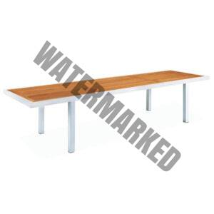 Mediterranean Extendable Teak Top Dining Table