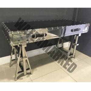 Mirrored Tressel Desk