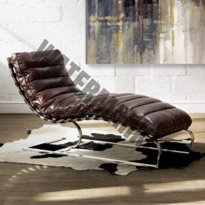 Morello Chaise  Vintage Dark Brown