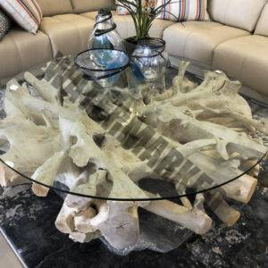 White Root Coffee Table – Round