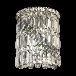 Large Round K9 Crystal Wall Light