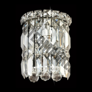 Small Round K9 Crystal Wall Light