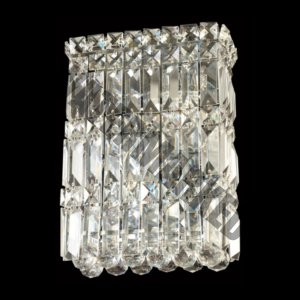 Large Square K9 Crystal Wall Light