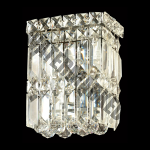 Small Square K9 Crystal Wall Light
