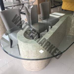 Marble Light Dining Table