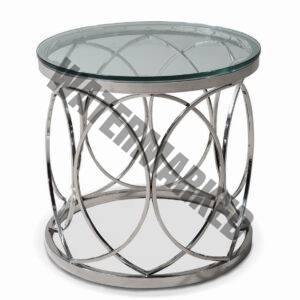 St Steel Circle Side Table