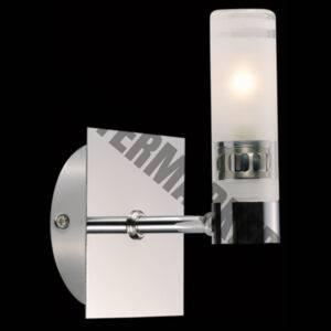Single Vertical Mirror Glass Wall Light