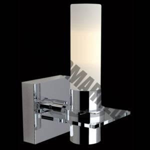 Single Vertical Opal Glass Wall Light