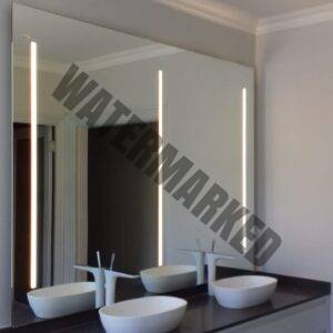 large back-lit mirror