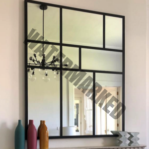 large custom steel frame mirror