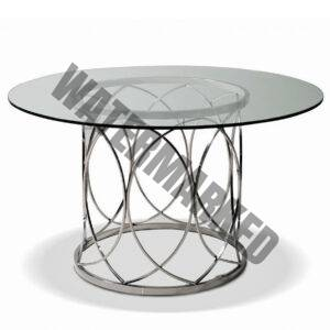 Stainless Steel Round Dining Table