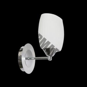 Modern Luxury Wall Light,Oval Pleated Glass