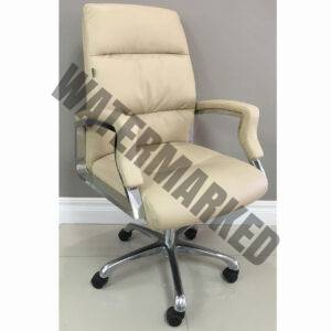 Visitors Chair Padded Cream