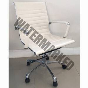 Visitors Chair Ribs White