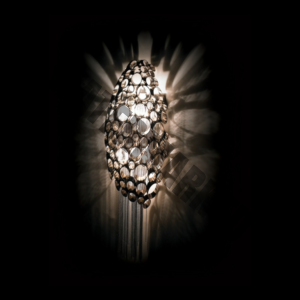Jewelled Egg Wall Light – Crystal