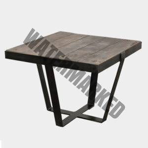 Watou Side Table (Metal & Oak)