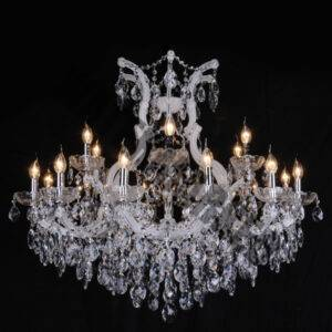 White K9 Crystal 19 Light Chandelier