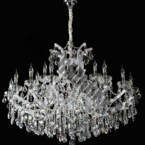 White K9 Crystal 25 Light Chandelier