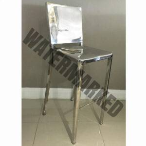 Stainless steel Square Barstool