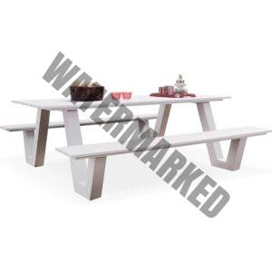 picnic bench white